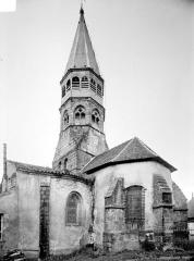 Eglise Saint-Martin - Angle sud-est : abside et clocher