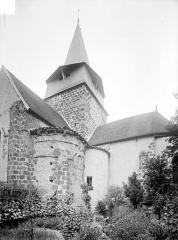 Eglise Saint-Nicolas - Abside et clocher, côté sud-est