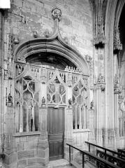Prieuré bénédictin de Souvigny - Vue intérieure de la chapelle vieille : porte de communication avec le choeur