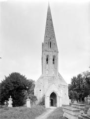 Eglise Saint-Martin - Ensemble ouest : porche et clocher