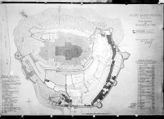 Abbaye et dépendances - Plan du rez-de-chaussée de l'abbaye et plan des propriétés de l'Etat
