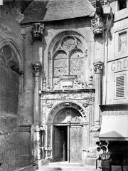 Cathédrale Saint-Maclou - Façade nord : Porte latérale