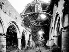 Ruines de l'ancienne église - Vue intérieure de la nef