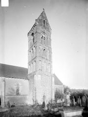 Eglise de Longraye - Façade sud : Clocher
