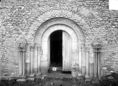 Eglise d'Aizy - Portail de façade sud, côté nef