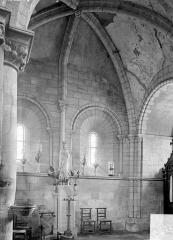 Ancienne église Saint-Gerbold - Vue intérieure du bas-côté sud : travée