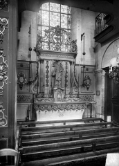 Eglise Notre-Dame ou de la Gloriette - Couronnement de retable en fer forgé