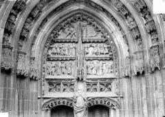 Cathédrale Saint-Etienne - Premier portail de la façade ouest : tympan