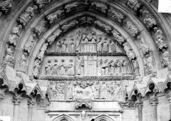 Cathédrale Saint-Etienne - Cinquième portail de la façade ouest : tympan