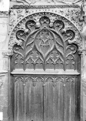 Cathédrale Saint-Etienne - Portail central de la façade ouest : arc de gauche, vue d'ensemble