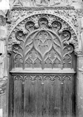 Cathédrale Saint-Etienne - Portail central de la façade ouest : arc de droite, vue d'ensemble