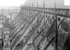 Cathédrale Saint-Etienne - Arcs-boutants : vue d'ensemble