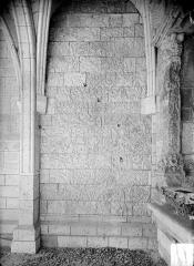 Ancien évêché - Chapelle des Saint-Gelais : Restes des parements