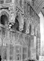 Chapelle Saint-Fiacre - Jubé : Vue perspective, du côté du choeur