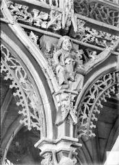 Chapelle Saint-Fiacre - Jubé. Ecoinçon : L'Ivrognerie