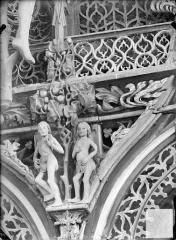 Chapelle Saint-Fiacre - Jubé. Ecoinçon : Adam et Eve