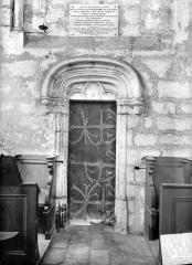 Eglise Saint-Mathurin - Porte intérieure