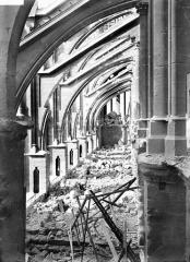 Cathédrale Notre-Dame - Façade sud : arcs-boutants et dessus des voûtes du bas-côté