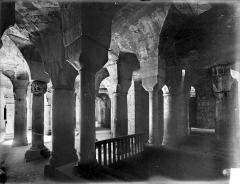 Cathédrale Saint-Bénigne - Crypte Saint-Bénigne : vue d'ensemble prise depuis l'entrée