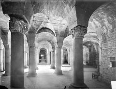 Cathédrale Saint-Bénigne - Crypte Saint-Bénigne : vue d'ensemble vers l'est