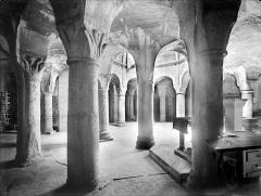 Cathédrale Saint-Bénigne - Crypte Saint-Bénigne : vue d'ensemble vers le nord-ouest