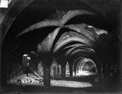 Abbaye de Clairvaux - Cellier, bâtiment principal : vue intérieure des caves