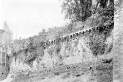 Château - Courtine au sud, Tour Raoul échafaudée