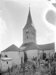 Eglise et son cimetière - Ensemble nord-est