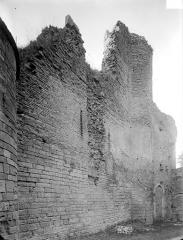 Château des ducs de Bourgogne (ruines) - Façade sud : mur extérieur