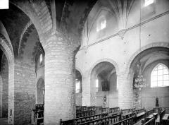 Ancienne abbaye - Vue intérieure du bas-côté sud et de la nef