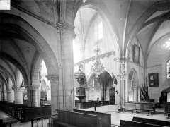 Eglise Notre-Dame des Ardents ou Saint-Christophe - Vue intérieure du bas-côté sud et du transept