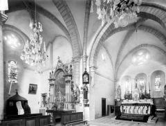 Eglise Notre-Dame des Ardents ou Saint-Christophe - Vue intérieure du choeur et du transept nord