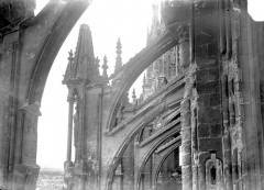 Cathédrale Notre-Dame - Façade sud : arcs-boutants de la nef