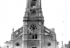 Eglise Saint-Jacques - Façade ouest : partie médiane