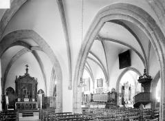 Eglise Saint-Antoine - Vue intérieure du bas-côté nord et de la nef
