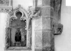 Eglise Saint-Antoine - Vue intérieure du bas-côté nord : piscine