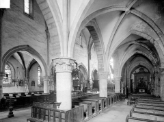 Eglise Saint-Maurice - Vue intérieure du bas-côté sud et de la nef