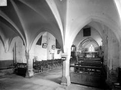 Eglise du hameau de Saint-Christophe - Vue intérieure de la nef, vers le nord-est