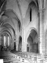 Ancien prieuré de Vaux, puis ancien petit séminaire, actuellement collège Notre-Dame de Vaux - Vue intérieure de la nef, vers le sud-est