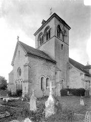 Eglise - Angle nord-est : abside et clocher
