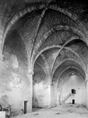 Collégiale de Thil (ruines) - Vue intérieure de la nef vers le sud-ouest