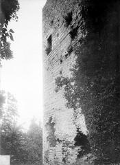 Château de Thil (ruines) - Donjon, côté sud