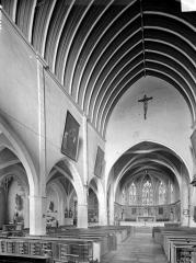 Ancien prieuré - Vue intérieure de la nef vers le nord-est