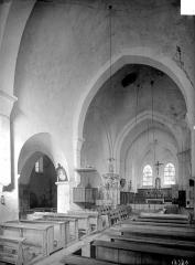 Ancienne Abbaye cistercienne de la Bussière, actuellement Centre d'accueil et de rencontre - Vue intérieure de la nef et du choeur, vers le nord-est