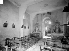 Chapelle de Fixey - Vue intérieure de la nef, vers le nord-est