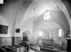 Chapelle de Fixey - Vue intérieure du choeur