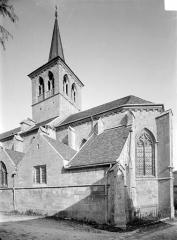 Eglise Saint-Genest - Façade sud : Abside et clocher