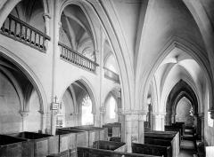 Eglise Saint-Genest - Vue intérieure du bas-côté nord et de la nef, vers le sud-ouest