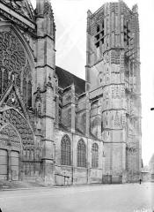 Ancienne cathédrale Saint-Etienne - Façade nord : Partie ouest
