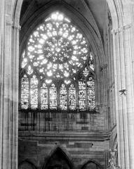 Ancienne cathédrale Saint-Etienne - Vitrail de la façade ouest